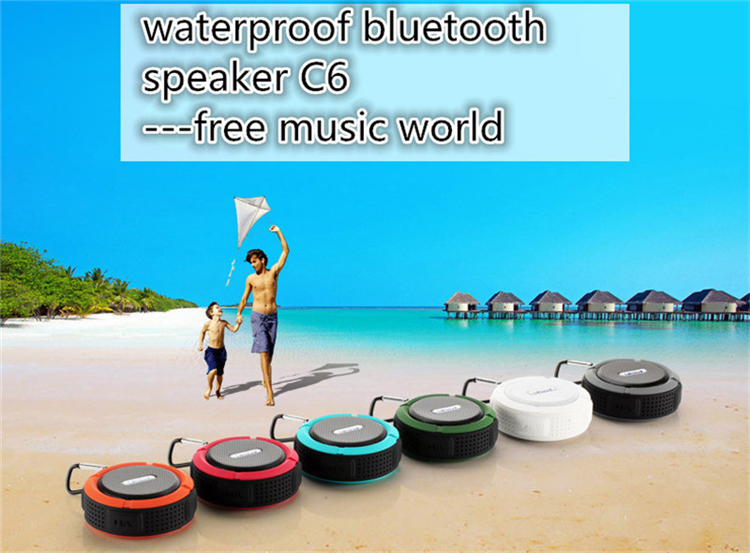 New Mini Bluetooth Speaker C6 Portable Wireless Stereo Speakers Support SD Cards Bluetooth 3.0 Reciever MP3 Music Player(China (Mainland))