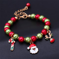 2015 Christmas Gift Enamel Charm Christmas Bracelet Jesus Pendant Bharm Bracelet Men Vintage Bracelet Bangles For