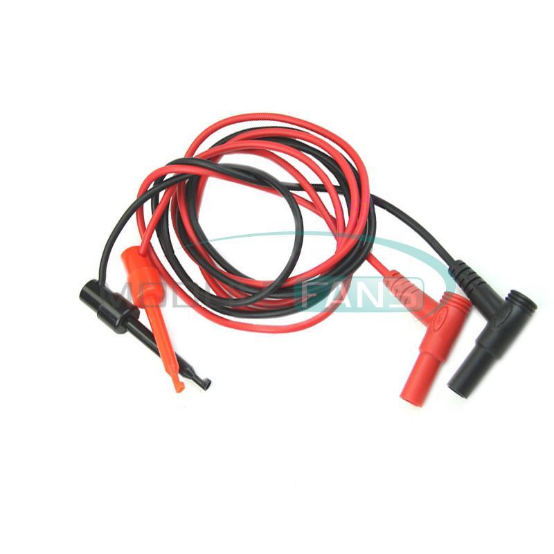 Гаджет  1Pair For Multimeter Test Equipment Banana Plug To Test Hook Clip Probe Cable None Электронные компоненты и материалы