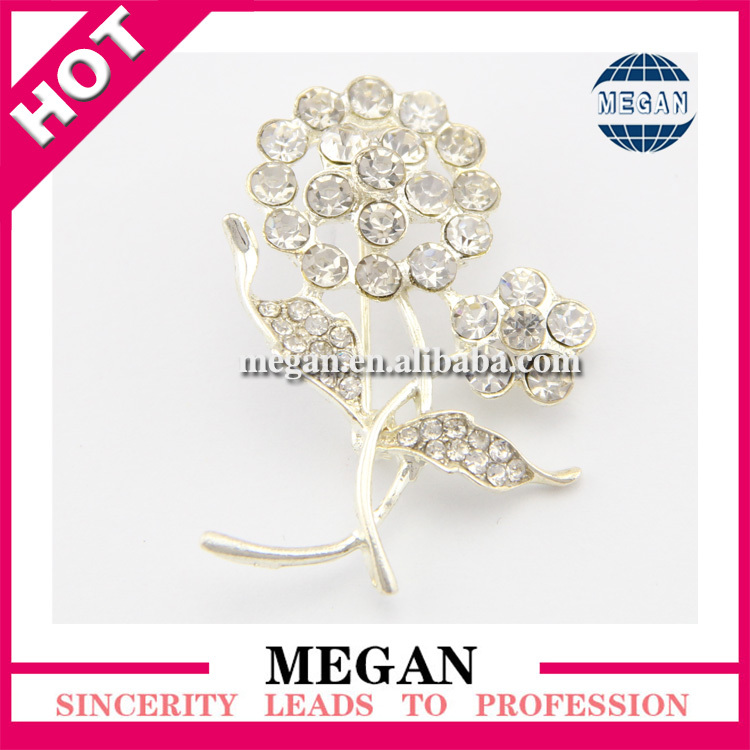 Hottest Wedding Invitation Rhinestone crystal fashion brooch(China (Mainland))