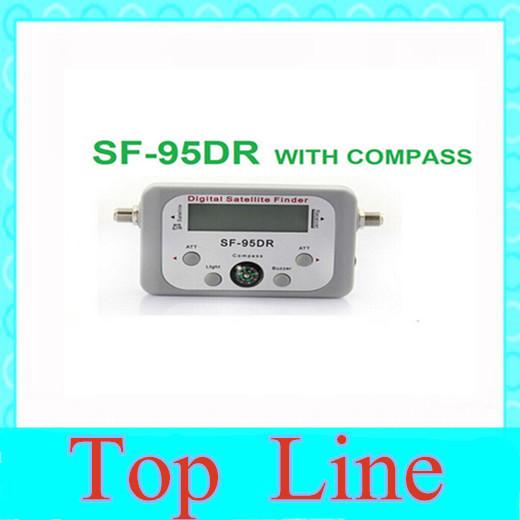 SF-95DR Cheapest Original Digital Satellite Signal Meter Finder Dish W Compass, Buzzer, LCD, FAT, Dish #12 TK0721