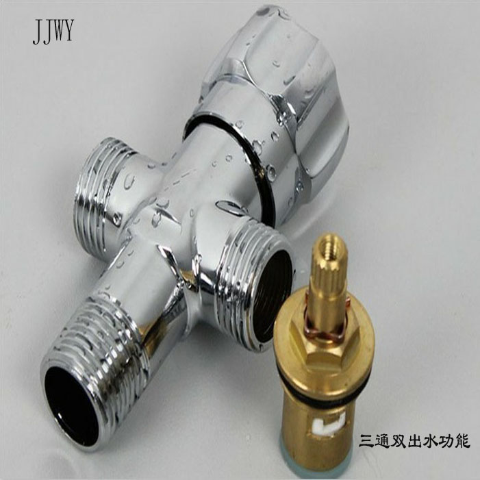 Copper angle valve shower water segregator angle valve for Copper in shower water