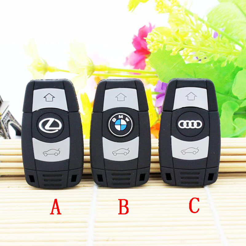 Professional Famous Car Key usb flash drive pen drive 64GB 32GB 16GB 8GB 4GB memory stick pendrive usb creativo mini gift(China (Mainland))