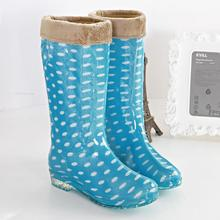 Botas Mujer Women's Low Heels Rain Boots , High Boots,lady's Water Shoes Galochas Femininas De Chuva Rainboots Botte Femme