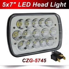CZG-5745 45w led driving light for Truck offroad 7inch led auto work head light 5x7inch 45W 7″ led truck light 45W High/Low beam
