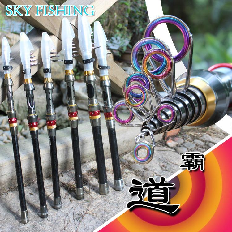 Hot 99% Carbon 1.8M 2.1M 2.4M 2.7M 3.0M 3.6M Portable Telescopic Fishing Rod Spinning Fish Hand Fishing Tackle Sea Rod(China (Mainland))