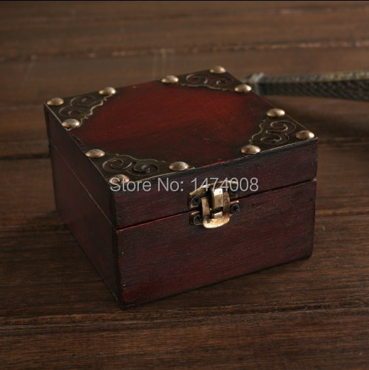 Classic Retro Antique Chinese Style Wooden Make up Box for Jewelry Vintage Wedding Gift jewellery organizer storage case(China (Mainland))
