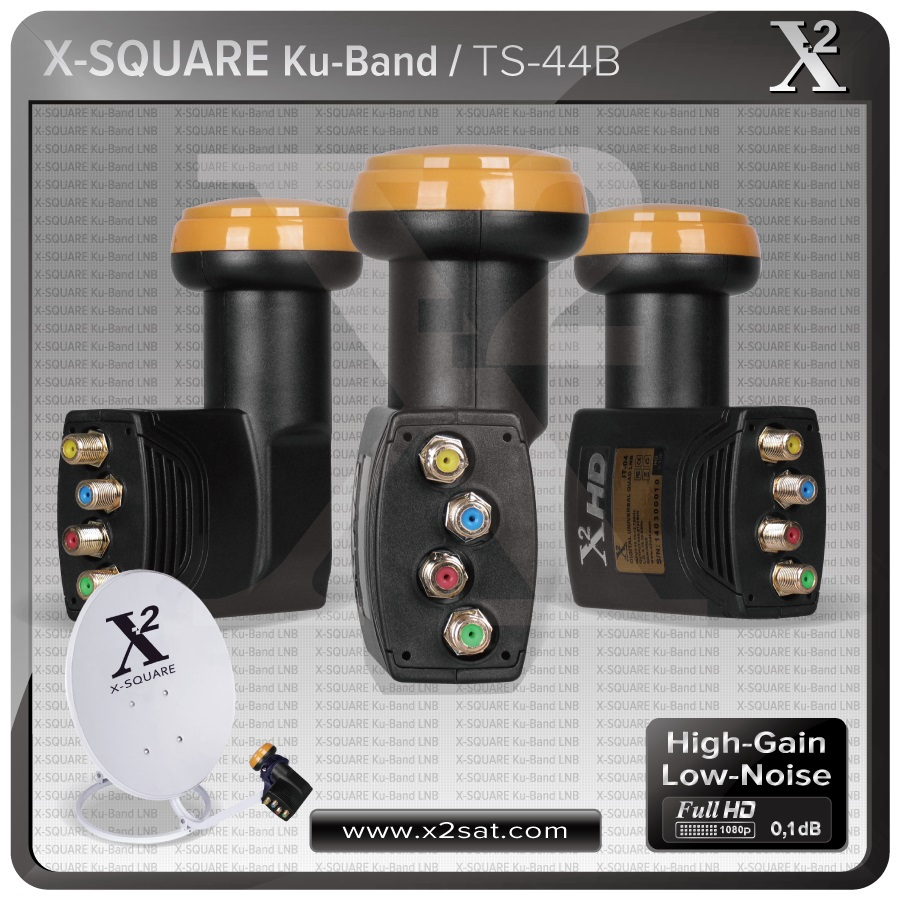 X2- Quad Universal LNB with 4 Output, Best Performance(China (Mainland))