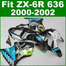 Fairing kit For Kawasaki 2000 2001 2002 zx6r fairings blue font b play b font font