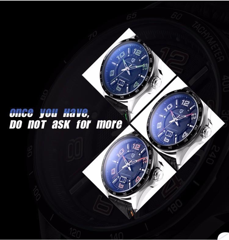 2016 Прямых Продаж Pagani Дизайн Мужчины Классический 3atm Водонепроницаемый Кварцевые Часы Кожа Люксовый Бренд Спортивные Часы Relogio Masculino