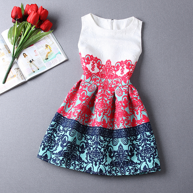 ZR7 New Fashion Sexy European Style Butterfly Print Casual Dress Vestidos Party Dresses Women Summer Dress 2015(China (Mainland))