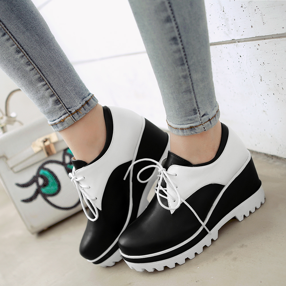 2016 New Shoes Fashion Simple Casual Platform Wedges Heels Comfortable Women Pumps 0001<br><br>Aliexpress