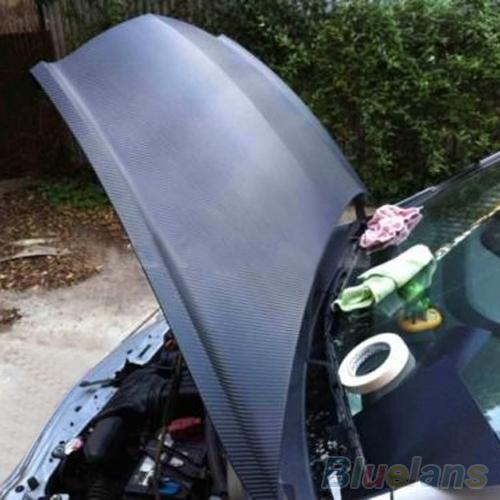 3D Carbon Fiber Black Vinyl Film Sheet Wrap Roll Auto Car DIY Decor Sticker 1ORX 4AZ3