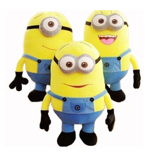 18CM 3 Styles Soft Stuffed Baby Toy Despicable Me Movie Minions Birthday Gift for Child Christmas Gift P0006