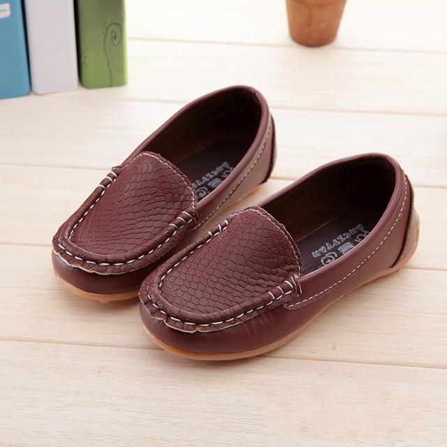 Детская обувь 2016 марка весна осень мокасины обувь девушки парни non-slip сухожилия кроссовки дети искусственная кожа ребенка свободного покроя дети обувь