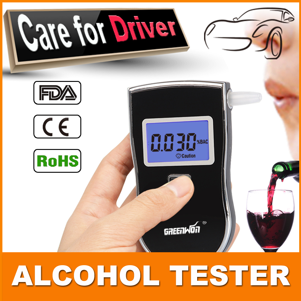 2015 Patent Police Black Digital Alcotest Alcohol Breath Analyzer Detector Breathalyzer Tester Test(China (Mainland))