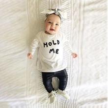 Детская мода 0 — 24 месяцев Bebes девушки комплект одежды футболка + Pu кожаные леггинсы 2016 девочки одежда бобо выбирает ребенка комбинезон