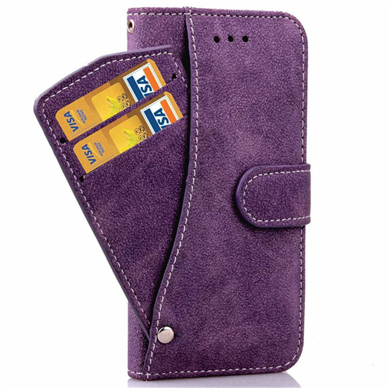 Luxury Nubuck Leather Wallet Phone Cases For iPhone 6 6s 4.7″ Flip Stand Case with Rotating Credit Card Slots Cover B384