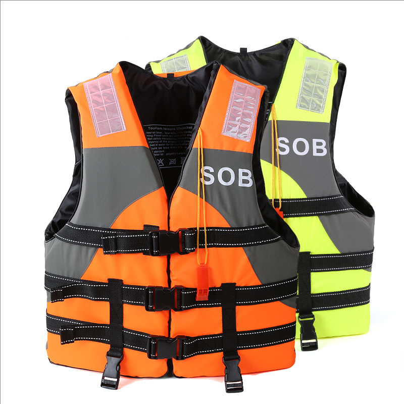 Outdoor swimming thickened Child Adult professional life jacket drifting snorkeling fishing buoyancy vest with a whistle(China (Mainland))