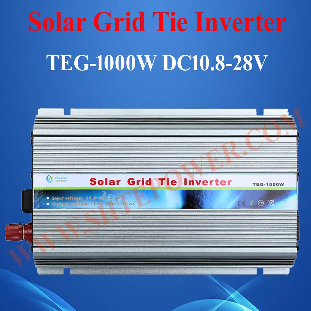HOT SALE!! GTI 1000W Grid Tie Solar Inverter, On Grid Inverter 1KW Grid Tied Inverter, DC10.5~28V to AC190V~260V(China (Mainland))