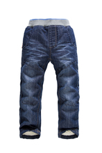 2015 NEW Children Pants Thick Winter Warm Cashmere Pants And  Spring/Autumn Kids Pants Baby Boys/Girls Jeans Designers jeans(China (Mainland))