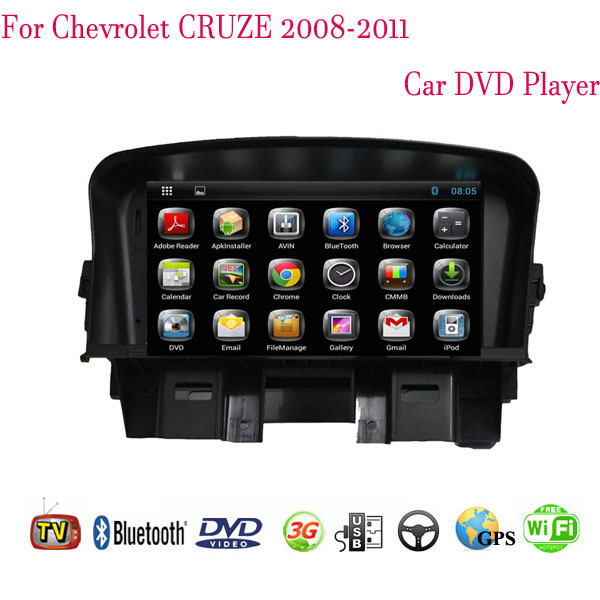 2 Din Android 4.4 Fit Chevrolet CRUZE 2008 2009 2010 2011 Car DVD Player GPS TV 3G Radio Bluetooth(China (Mainland))