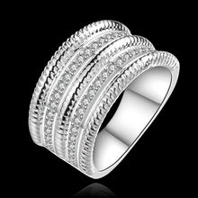 Wholesale 925 jewelry silver plated ring, 925 jewelry silver plated fashion jewelry, Bulgary Ring SMTR659