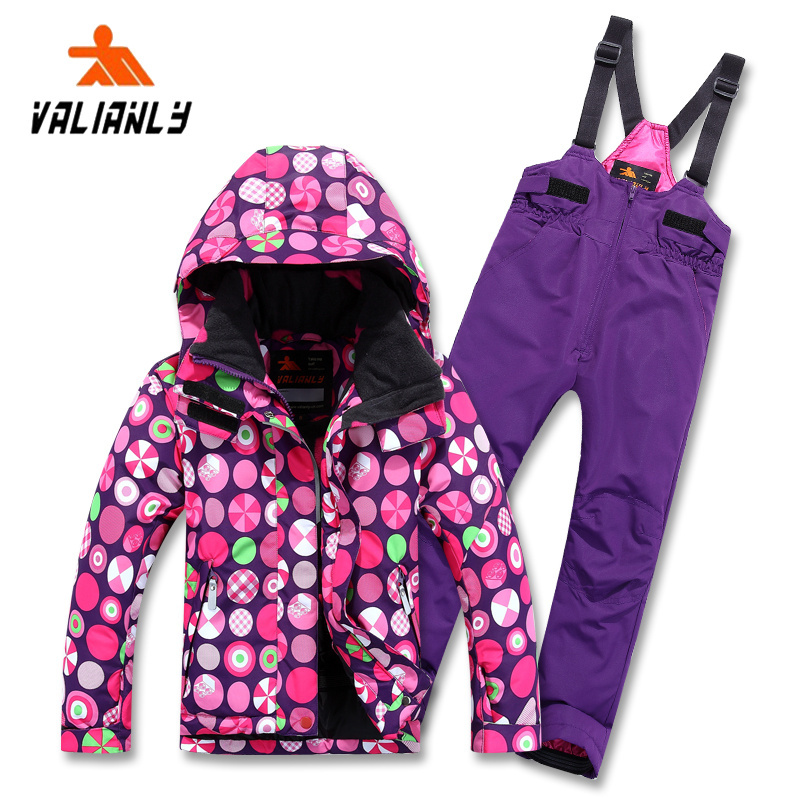 2015 Winter authentic outdoor children ski jacket professional boys and girls thick waterproof windproof children ski suits(China (Mainland))