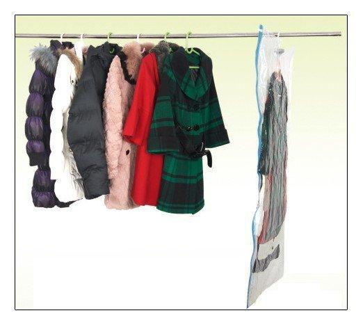 home Vacuum vacuum-seal Storage Hanging bags. Wardrobe decultter. Space suit bag 60x90cm XL size wall hanger hook(China (Mainland))