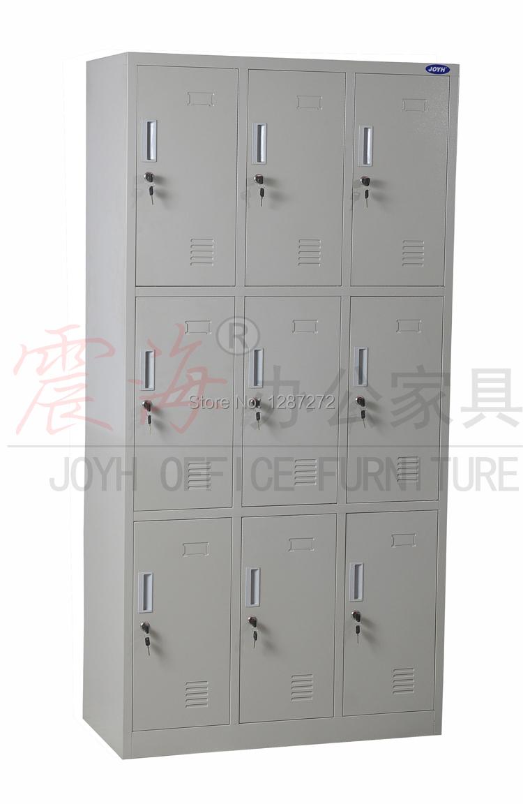 Adesivo De Unha Infantil Passo A Passo ~ Nueve locker puerta, 9 puerta armario de metal, armario de acero, armario de la escuela en de en