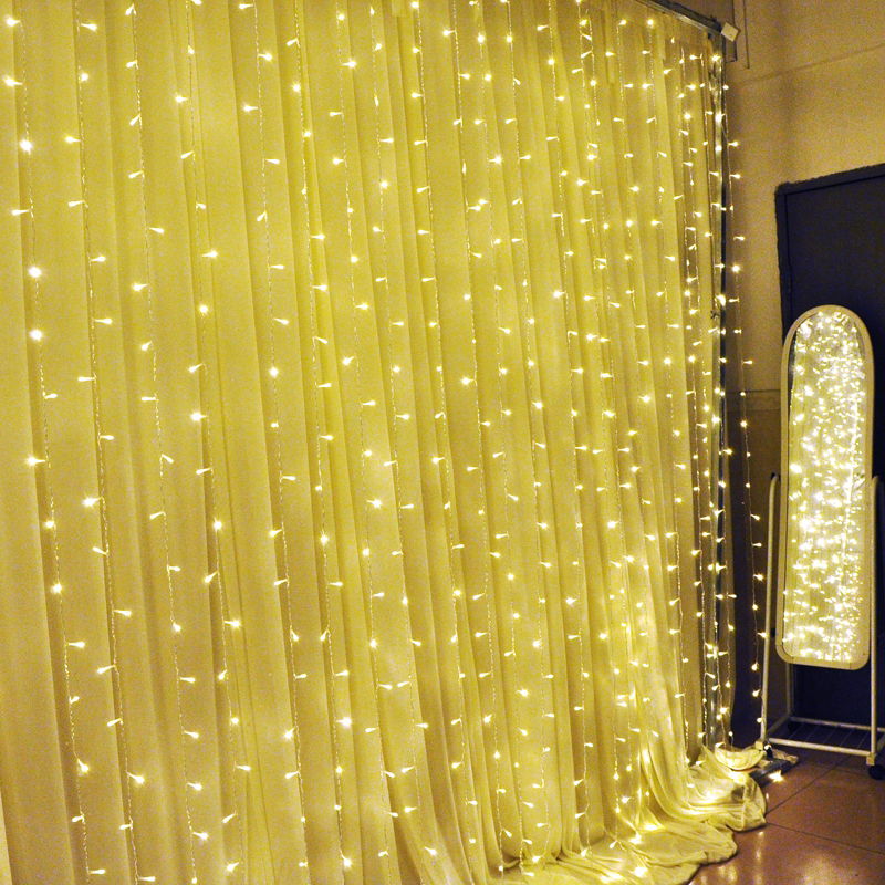 2016 3m X 3m 300leds 220v Christmas Garlands Icicle Led Curtain Decor String Fairy Light Party