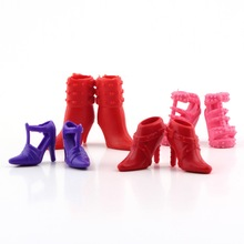 Colorful Assorted for Doll shoes Different styles Fashion 12 pairs Cute Drop Shipping Wholesale(China (Mainland))