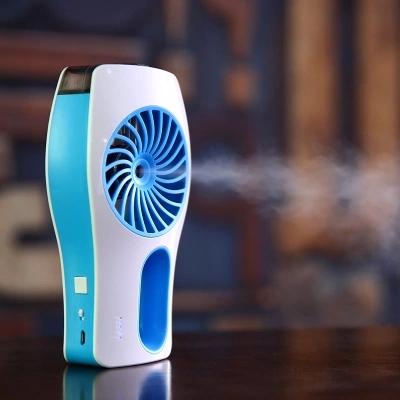 Гаджет  Small Handheld Water Mist Fan USB Ventilator Mini Portable Air Conditioner Fan Battery Ventilador Portatil None Бытовая техника