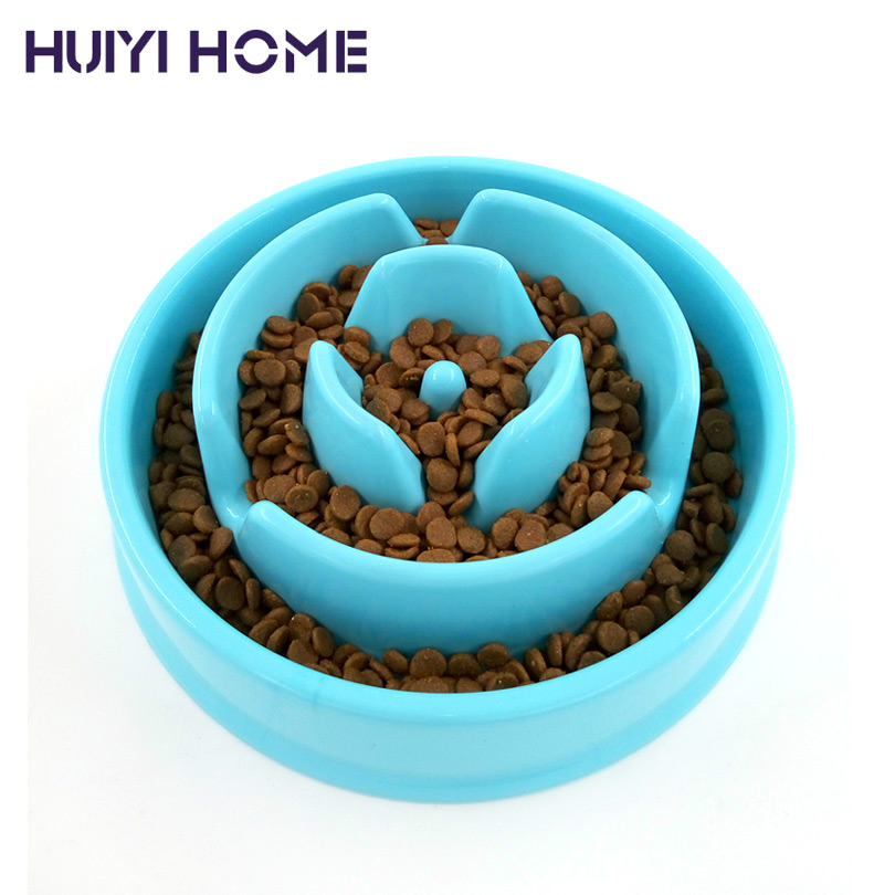 New Dogs Cat Food Bowl Bud-Shaped Anti-Choke Pet Feeder Slow Eating Dog Bowls Goods For Pets ENI007(China (Mainland))