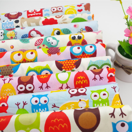 50x50cm 10 pieces cartoon bird owl 100 cotton fabric patchwork for sewing quilting textiles. Black Bedroom Furniture Sets. Home Design Ideas