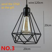 Retro indoor lighting Vintage pendant light LED lights 24 kinds iron  cage lampshade warehouse style light fixture(China (Mainland))