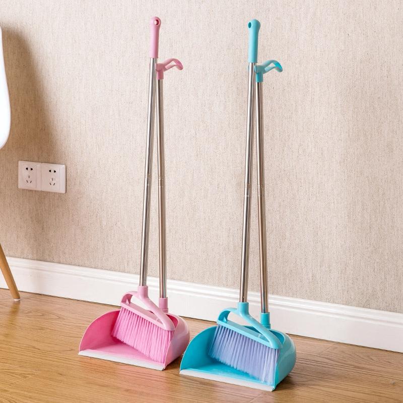 Dustpan soft bristle broom garbage shovel suit household plastic dustpan summarized Kei dustpan broom sweeping(China (Mainland))