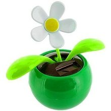 Solar Toy Dancing Flower Sunflower Great as Gift or Decoration Green Color(China (Mainland))