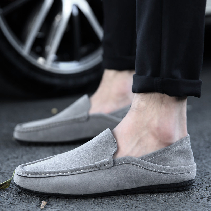 MWSC Suede Leather Slip-On Loafers Shoes New Fashion Men's Driving Shoes Mocassin Chaussure Homme