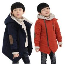 Abbigliamento per bambini figlio maschio femmina wadded 2015 inverno big boy ragazze cappotto di cotone imbottito più velluto ispessimento outear(China (Mainland))
