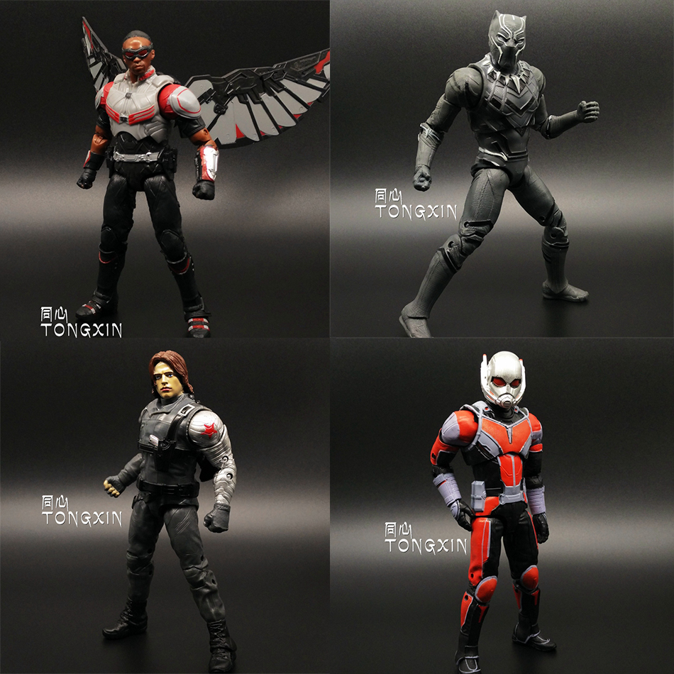 Captain America 3 Falcon Black Panther Winter Soldier Ant Man Civil War Avengers MARVEL Movable PVC 17cm Action Figure Kids Toy(China (Mainland))