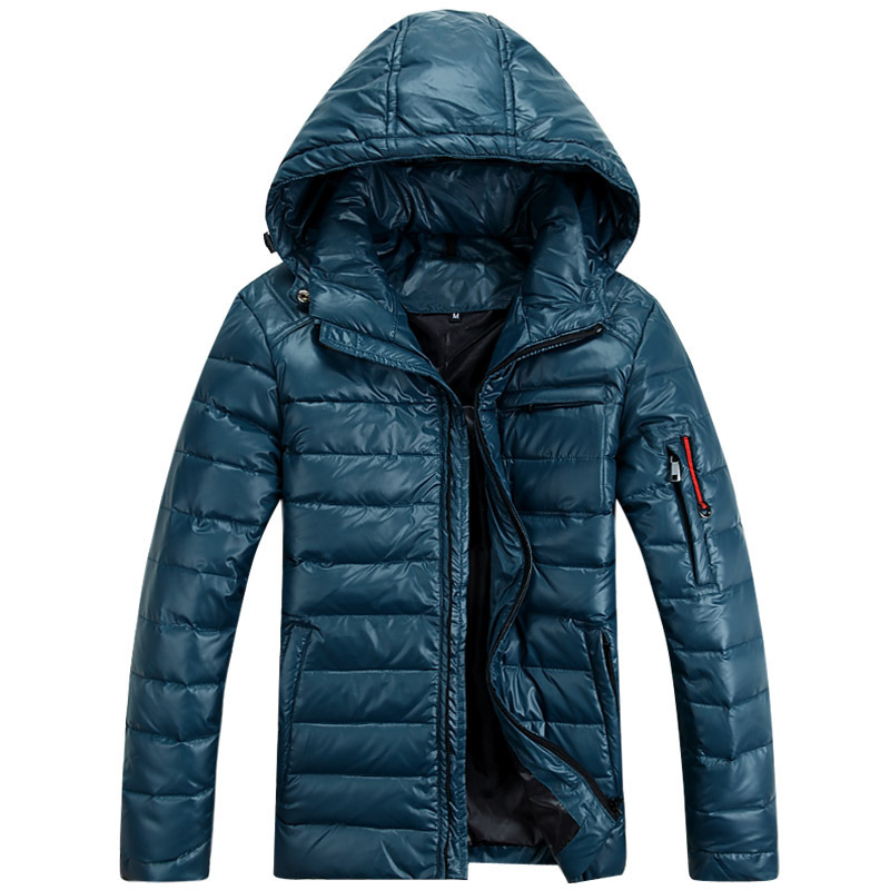 High quality 2015 New fashion Mens winter outdoor hooded Fur Collar puffer down jacket Men goose Thicken jackets parka Coat(China (Mainland))
