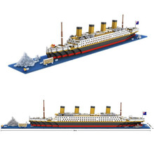 LOZ RMS Titanic Ship 3D Building Blocks Toy Titanic Boat 3D Model Educational Gift Toy for Children J38(China (Mainland))