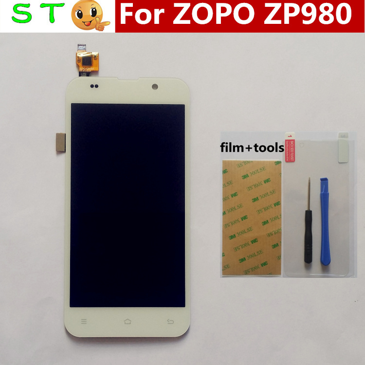 In Stock! 100% Original New ZOPO ZP980+ LCD Display +Digitizer Touch Screen Glass for ZOPO ZP980 ZP980+ C2 C3 White color