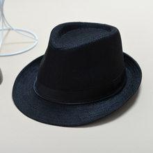 Chapeaux d'été multicolore en option solide chapeau de paille pour les femmes plage Fedoras décontracté Panama soleil chapeaux Jazz casquettes chapeau de Style britannique(China)