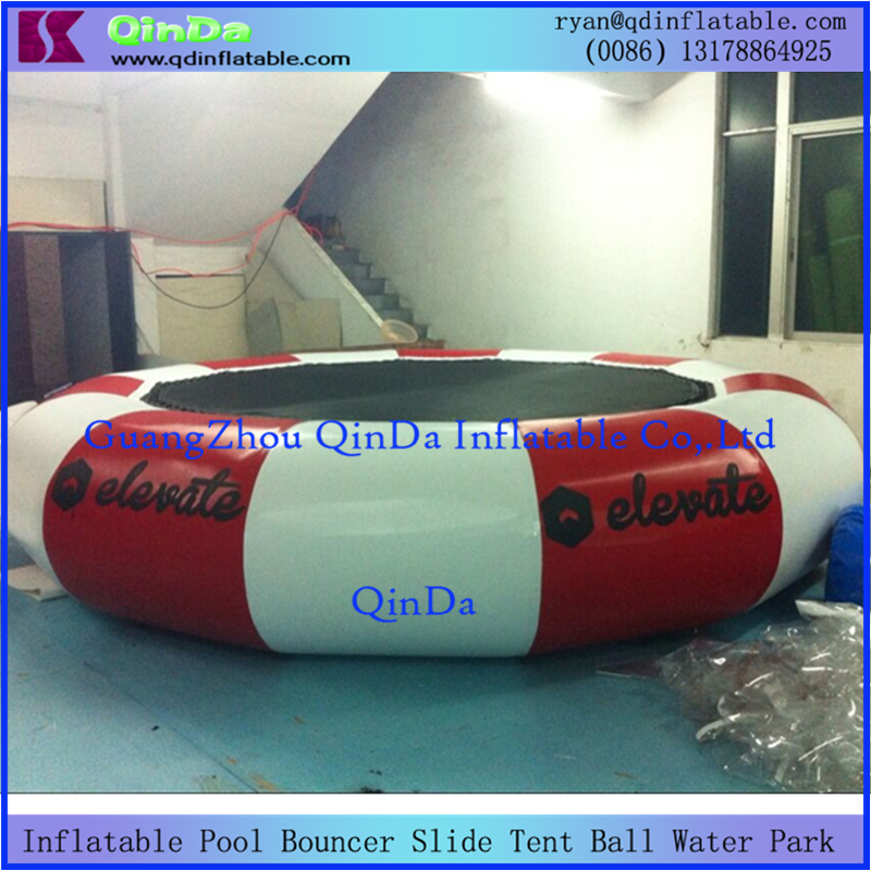 customize big diameter commercial grade air bouncer Inflatable water floating games water jump bouncer(China (Mainland))
