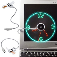New hot selling USB Mini Flexible Time LED Clock Fan with LED Light – Cool Gadget Free shipping Wholesale Store