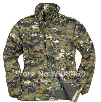 Outdoor military leisure clothing jungle military men's alpha classic digital M65 charge garments