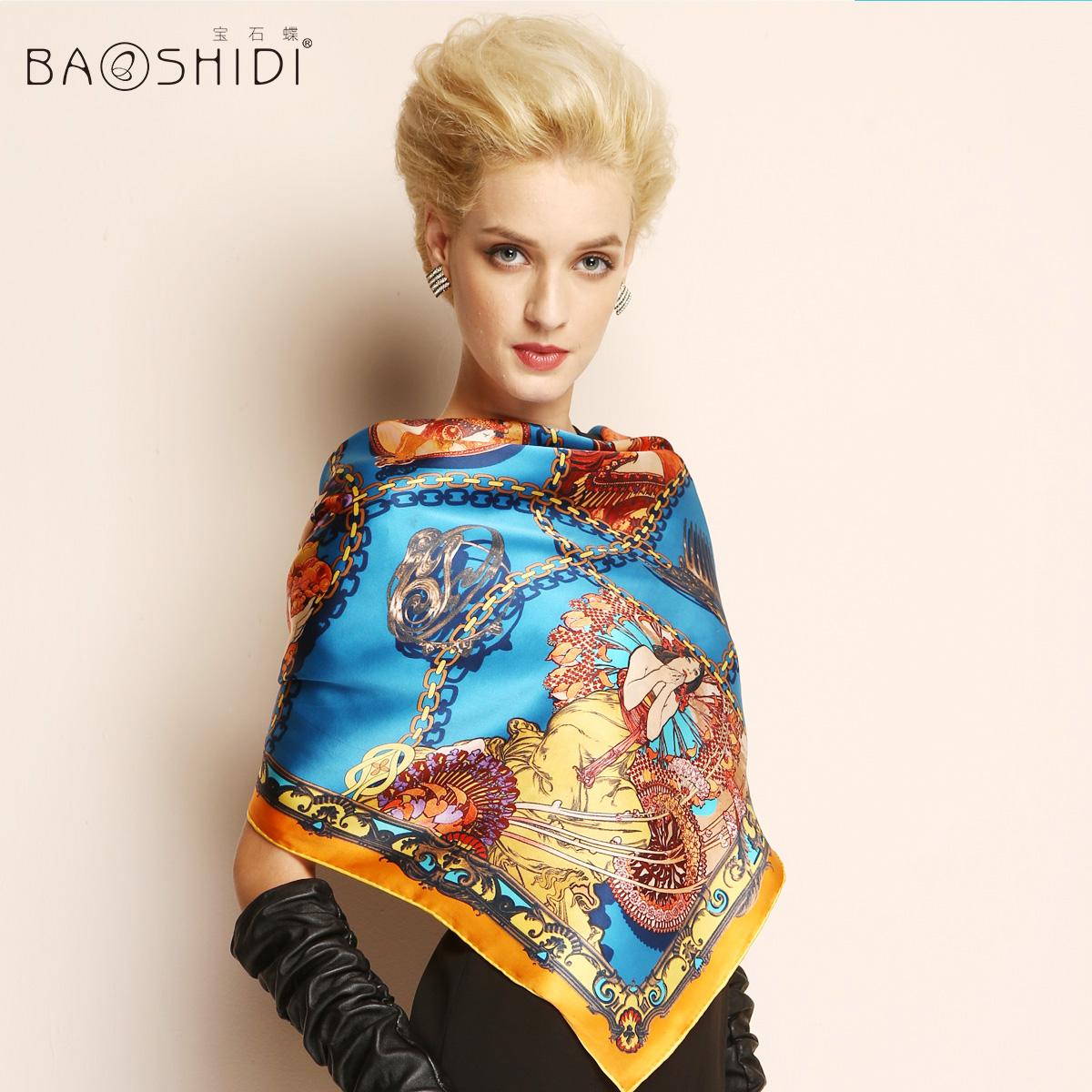 90*90CM Pteroic gem silk large facecloth female silk scarf mulberry silk scarfОдежда и ак�е��уары<br><br><br>Aliexpress
