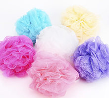 F517 home lovely colored flower  shower bath bath ball(China (Mainland))